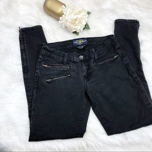 Lucky Brand Black Moto Jeans Sz 6 ::